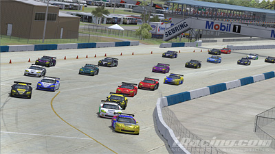 Start of the iRacing 120 Minutes Of Sebring 2010