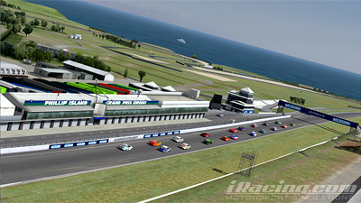 iRacing bring Phillip Island to their racing service